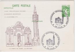 FRANCIA - France - 1979 - Carte Postale - La Porte De Paris - Le Beffroi - 18° Congrès Régional Philatélique - 59 LIL... - Esposizioni Filateliche