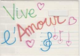 FRANCIA - France - 1992 - Carte Postale - GRAFFITI  Vive L'amour - Philatelie - XVI OLYMPIC WINTER GAMES ALBERTVILLE ... - Winter 1992: Albertville
