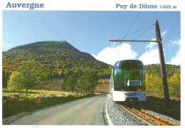 COG RAILWAY RACK RAILWAY RAIL RAILROAD TRAIN PANORAMICO DES DOMES PUY DE DOME VOLCANO * Editions Debaisieux 771 * France - Trains