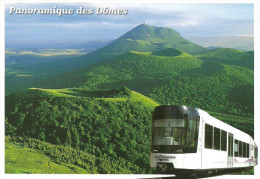 COG RAILWAY RACK RAILWAY RAIL RAILROAD TRAIN PANORAMICO DES DOMES PUY DE DOME VOLCANO * Editions Debaisieux 779 * France - Trains