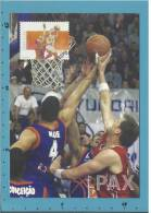 Desporto - BASQUETEBOL - BASKETBALL - BALONCESTO - 2002 - CARTE MAXIMUM CARD - MAXIMUMKARTE - PORTUGAL - 2 Scans - Basketball