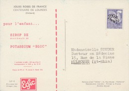 PREO COQ 8C SUR CP ROSES PUB EGIC SIROP - 1953-1960