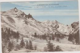 63,LE MONT DORE ,puy De Dome,SANCY EN 1940,ROUTE DE VAL D´ENFER,hiver,neige,glaci Er,sapin - Le Mont Dore