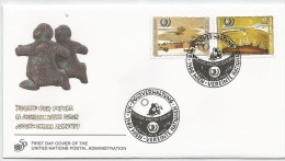 Nations Unies - Vienne - 1995 204 - 205 FDC - Jeunesse Noire - Avenir -Youth Our Future - Jugend Unsere Zukunft - Childhood & Youth