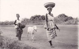 Afrique Noire - Départ Pour Le Marché (animée) - Cartes Postales