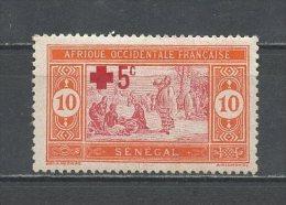 SENEGAL 1915 N° 70 * Neuf  = MH Trace De Charnière Cote 2,30 € Croix Rouge Red Cross Marché Indigène - Ongebruikt