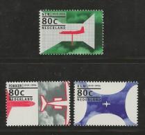 NEDERLAND, 1994, MNH Stamps, Dutch Aeroplanes, Nrs. MI 1508-1510, #5551 - Period 1980-... (Beatrix)