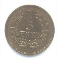 5 Francs Lavrillier France Bronze Alu 1945 - Frankrijk