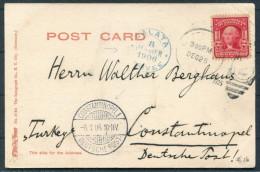 1905 USA Gettysburg Postcard - Galata Constantinopel Deutsche Post Turkey - United States