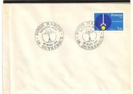 Lettre 1° Jour  De  Dunkerque ( 59  )  Du  28 - 03 - 1981   N° 2129  Fonds  Marins - Frankrijk