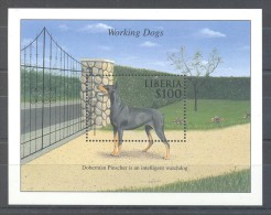 Liberia - 2000 Working Dogs (II) Block MNH__(TH-8115) - Liberia