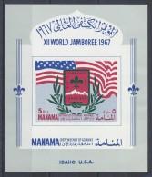 Manama - 1967 Scouts Block MNH__(TH-1344) - Manama