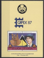 St.Lucia - 1986 Scouts Block (2) Capex MNH__(TH-4834) - St.Lucia (1979-...)