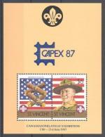 St.Vincent - 1986 Scouts Block (2) Capex MNH__(TH-12242) - St.Vincent (1979-...)
