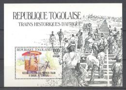 Togo - 1984 Locomotives Block (1) MNH__(TH-12026) - Togo (1960-...)
