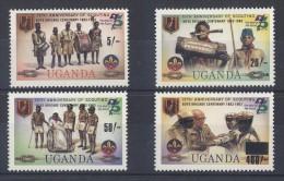 Uganda - 1983 Scouts Overprints MNH__(TH-1782) - Uganda (1962-...)