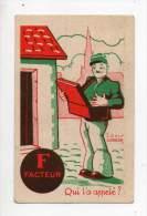 Chromo - Lessive Floréal - Louis Gougeon - F Facteur - Qui L'à Appelé? - Kaufmanns- Und Zigarettenbilder