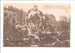 """DEP. 71 CARNAVAL DE CHALON 1924 CHAR DES REINES """"LES FLEURS DE CHALON"""" Grosse Animation - Chalon Sur Saone"""