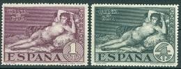 Spanien 1930 Mi. 484 + 485 Postfr. Goya Gemälde Akt Die Nackte Maja - Ungebraucht