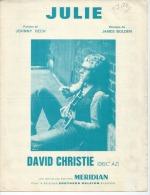 DAVID CHRISTIE  Partitions - JULIE - éditions MERIDIAN  ( PARTITION ) - Musique & Instruments
