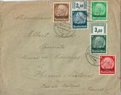 ALLEMAGNE LORRAINE Sur Lettre Censure - Occupation 1938-45