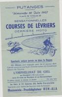 Vieux  Papiers :   ; Putanges,  Orphelinat De  GIEL , Moto  , Courses De  Lévriers  1957 - Unclassified