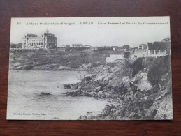 Afrique Occidentale Sénégal ( 58 ) Anse Bernard Et Palais Du Gouvernement - Anno 19?? ( Zie/voir Foto Voor Details ) !! - Sénégal