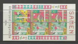 NEDERLAND, 1994, MNH Stamp(s) Block, Child Welfare,  Nr(s). Bl 42, #5599 - Period 1980-... (Beatrix)