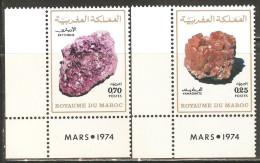 Morocco 1974 Mi# 764-765 ** MNH - Minerals - Minerals