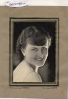 PHOTO  ORIGINALE -  Portrait De Yvette  Dugré  Par Lucien  SHETTLE,  5 Rue Boileau  Nantes - Persone Identificate