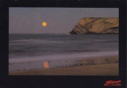 Spain PPC Cantabria En Comillas La Luna Nace Del Mar CAMALENO - LA FRENCHA 1993 To England (2 Scans) - Cantabria (Santander)