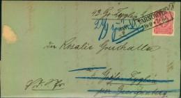 """1880: Brief Ab TARNOWITZ Nach Groß Zyglin Per GEORGENBERG/Schlesien Mit Vermerk """"""""Adressat Ist Todt - Landbriefträger"""""""" - Allemagne"""