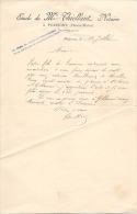 POISSONS - Notaire M. Thiellant - Demande De Signature D´une Mainlevée à Gillaumé - Manuscrits
