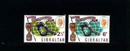 GIBRALTAR - 1966  WORLD CUP  SET  MINT NH - Gibilterra