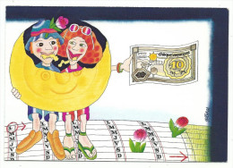 Carte éditée Par Le Comité Tourisme Et Travail En Faveur De La 5ème Semaine De Congé Payée, Illustration G. Flores - Gewerkschaften