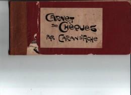 Carnet De Chèques Par Caran D´Ache 24 Dessin Caricatures Antisémites Judaïca - Unclassified