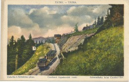 Slovakia Vysoke Tatry Zubacka K Strbrskemu Plesu Csorbatoi Fogaskereku Railway Train Tram - Slovakia