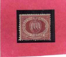SAN MARINO 1894 - 1899 STEMMA COAT OF ARMS ARMOIRIES CENT.10 MNH - Saint-Marin
