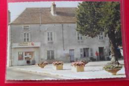 21 - Esbarres - PLACE DE L´EGLISE Aout 1991  Épicerie J.P.HEIM Primeurs Crèmerie TABAC - TAC-O-TAC BANCO  Animation - Autres Communes