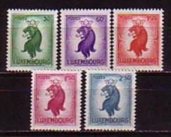 LUXEMBOURG - 1945 - Serie Leone - Korone - 5v** - 1945 Heraldieke Leeuw