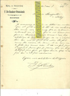 Belgique - RONSE - Facture DE BACKER-PENNICK - 1906 - REF 31 - 1900 – 1949