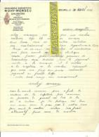 Belgique - CARLSBOURG - Facture MOHY-MONSEU - Menuiserie-ébénisterie - 1937 - REF 31 - 1900 – 1949