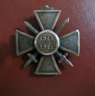 Croix De Guerre 1914 1915 Bronze Sans Ruban Etat TTB 1914 1918 Médaille - France