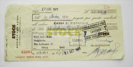 STOCK  TRIESTE       TRATTA CAMBIALE  ANNI 70  BANCA     COME DA FOTO - Italia