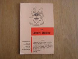 LES CAHIERS WALLONS N° 1 1981 Tombal Smal Maure Lambert Dahin Puissant  Poètes Poèsie Dialecte Namur Poêmes Patois - België