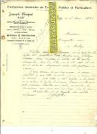 Belgique - MAZY - Facture CHAPUT - Travaux Publics Et Particuliers - 1905 - REF 31 - Belgique