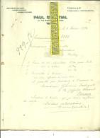 Italie - TURIN - Facture COURTIAL - Représentant - 1912 - REF 31 - Italia