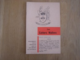 LES CAHIERS WALLONS N° 2 1982 Cordier Husson Paquet Galer Baudrez Rousseau   Poètes Poèsie Dialecte Namur Poêmes Patois - België