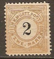 WURTEMBERG   -    1881.    . Y&T N° 55 *. - Wuerttemberg