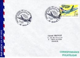 DOLE, 39 : TàD 1993 Inauguration De La Liaison Aéropostale DOLE-PARIS-ROISSY-DOLE - Commercial Aviation